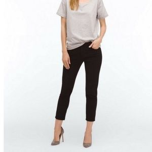 AG – The Stilt Crop Cigarette Crop Black Jeans 26